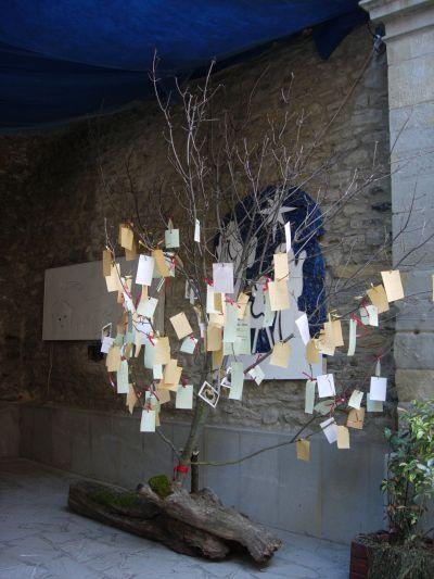 Era anche &;l'albero dei desideri&; dove tutti i visitatori potevano
